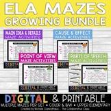 ELA Maze Activities | Growing Bundle | Distance Learning