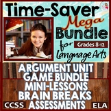 Teachers' Time Saver Mega Bundle CCSS ELA Middle & High School over 500 Pages