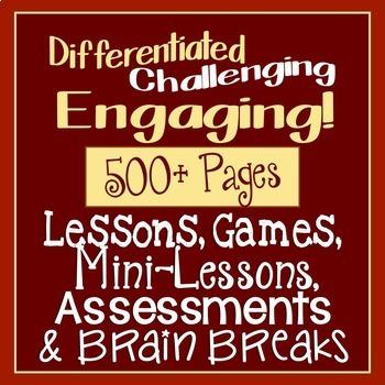 Teachers' Time Saver Mega Bundle CCSS ELA Middle & High School over 500 Pages
