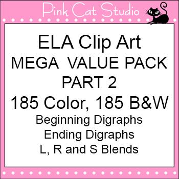 Clip Art ELA Mega Value Pack Part 2 Clip Art - Personal or