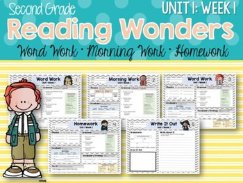ELA Mini Bundle 2nd Grade Wonders Unit 1: Week 1
