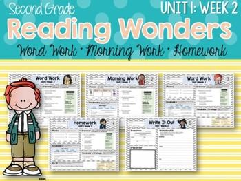 ELA Mini Bundle 2nd Grade Wonders Unit 1: Week 2