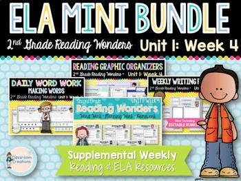 ELA Mini Bundle 2nd Grade Wonders Unit 1: Week 4