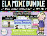 ELA Mini Bundle 2nd Grade Wonders Unit 2: Week 2