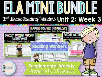 ELA Mini Bundle 2nd Grade Wonders Unit 2: Week 3