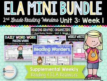 ELA Mini Bundle 2nd Grade Wonders Unit 3: Week 1
