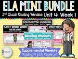 ELA Mini Bundle 2nd Grade Wonders Unit 4: Week 1