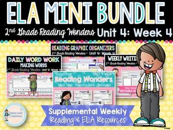ELA Mini Bundle 2nd Grade Wonders Unit 4: Week 4