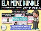 ELA Mini Bundle 2nd Grade Wonders Unit 4: Week 5