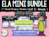 ELA Mini Bundle 2nd Grade Wonders Unit 5: Week 1