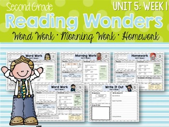 ELA Mini Bundle 2nd Grade Wonders Unit 5: Week 1