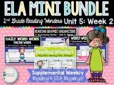 ELA Mini Bundle 2nd Grade Wonders Unit 5: Week 2
