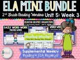ELA Mini Bundle 2nd Grade Wonders Unit 5: Week 3