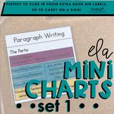 ELA Mini Charts | Set 1 (Mini Anchor Charts)