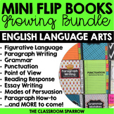 ELA Mini Flip Book BUNDLE (Grammar, Punctuation, Point of View, etc.)