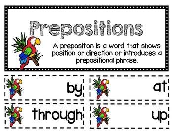 ELA Mini Lesson- Prepositions