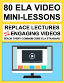 ELA Mini-Lesson QR Code Videos instead of Lectures!