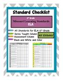 ELA Missouri Learning Standard Checklist