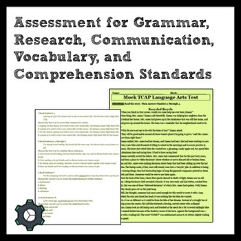 ELA Test for Grammar, Research, Communication, Vocabulary,