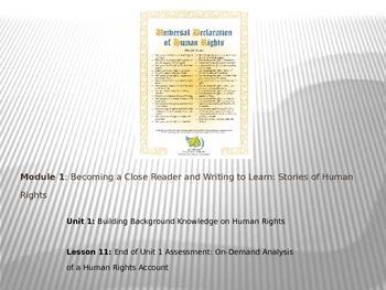 ELA Module 1 Unit 1 Lesson 11 UDHR