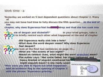 ELA Module 1 Unit 2 Lesson 4 Esperanza Rising