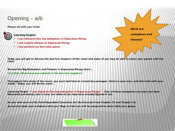 ELA Module 1 Unit 2 Lesson 15 Esperanza Rising