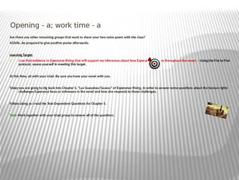 ELA Module 1 Unit 2 Lesson 16 Esperanza Rising
