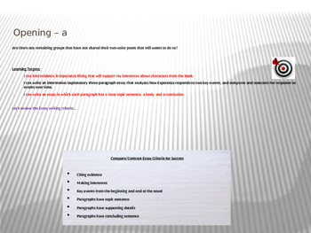ELA Module 1 Unit 2 Lesson 18 Esperanza Rising