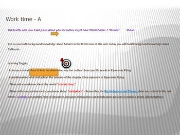 ELA Module 1 Unit 2 Lesson 7 Esperanza Rising