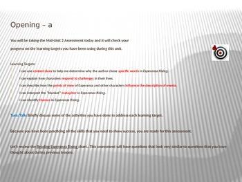 ELA Module 1 Unit 2 Lesson 9 Esperanza Rising