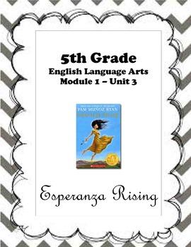 ELA Module 1 Unit 3 - Esperanza Rising