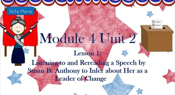 ELA Module 4 Unit 2 Lessons 1- 9 Engage NY Fourth Grade Common Core