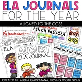 ELA Monthly Journals For The Year