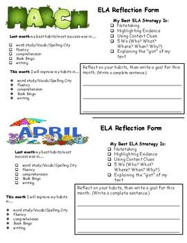 ELA Portfolio Reflection Form