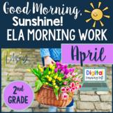 ELA Morning Work 2nd Grade {April} I Distance Learning I Google Slides