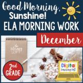 ELA Morning Work 2nd Grade {December} I Distance Learning I Google Slides