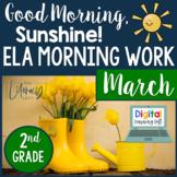 ELA Morning Work 2nd Grade {March} I Distance Learning I Google Slides