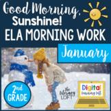 ELA Morning Work 2nd Grade {January} I Distance Learning I Google Slides