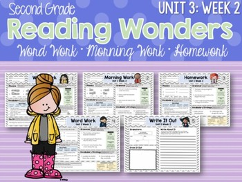ELA Morning Work 2nd Grade (Unit 3) BUNDLE