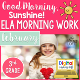 ELA Morning Work 3rd Grade {February}