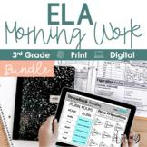 ELA Morning Work 3rd Grade I Distance Learning I Google Slides