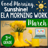 ELA Morning Work 3rd Grade {March}