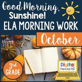 ELA Morning Work 3rd Grade {October}