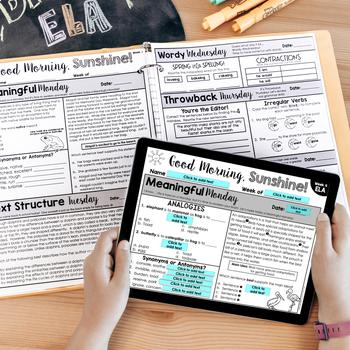 ELA Morning Work 4th Grade {Growing Bundle}