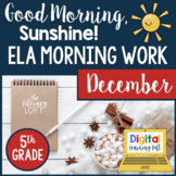 ELA Morning Work 5th Grade {December}