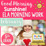 ELA Morning Work 5th Grade {February}