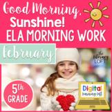 ELA Morning Work 5th Grade {February}