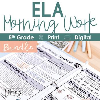ELA Morning Work 5th Grade {Growing Bundle}