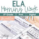 ELA Morning Work 5th Grade {The Bundle}