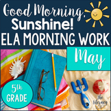 ELA Morning Work 5th Grade {May}